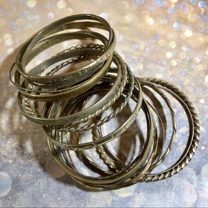 Vintage 80's sterling silver bangle bracelets.